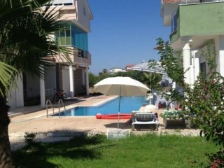 FULL FURNISHED 100 M TO BELEK BOGAZKENET BEACH DETACHED VILLA TRIPLEX