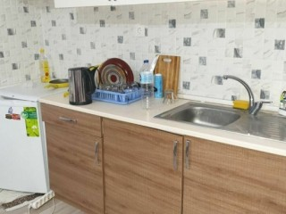Cheap in Belek, on top of market for sale apartment in 1 + 1 55m2 steel door with furniture