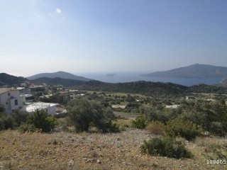 Our zero-position on road in the centre of Kalkan, 1,650 m2 BUILD 2 HOUSES with sea views from all corners