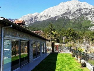 STONE VILLA FOR SALE IN KEMER, BEYCIK WITH WONDERFUL VIEWS OF THREE ISLANDS