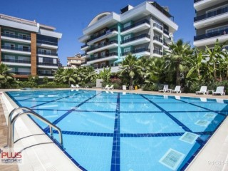 Spacious 7 + 1 NEW APARTMENT separate kitchen on a great site in Oba, Alanya