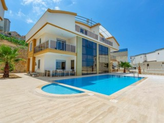 KARGICAK 5 + 1 FULL ZERO-FURNISHED TWIN VILLA, ALANYA PROPERTY
