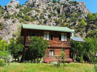 Bungalow wooden house for rent in Cirali beach