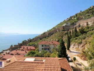 Private house property for sale in historical Alanya Castle ottoman style