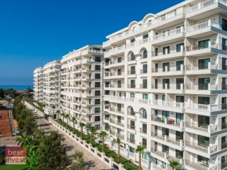 1+1 Apartment for sale with furniture in the magnificent site in Alanya