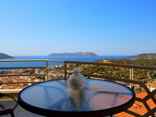 SEA VIEW 3+1 DUPLEX APARTMENT FOR SALE IN KAS CENTER