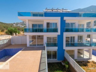 Luxury new duplex with 5+1 private pool is for sale in Kalkan center, Kas