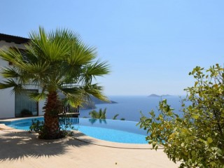 Luxury Kalkan Villa For Sale With Panoramic Sea and Greek Island View Turkey