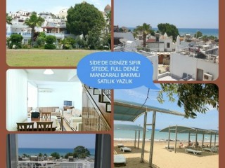 SUMMER HOUSE FOR SALE WITH FULL SEA VIEW ON THE SEAFRONT, Manavgat