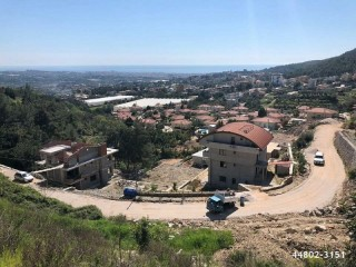 740 m2 VILLA CONSTRUCTION LAND FOR SALE WITH FULL SEA VIEW IN ALANYA