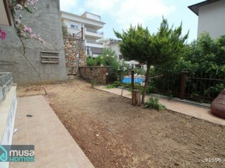 ALANYA 3+1 DUPLEX IN SMALL HASBAHÇE 3+1 WITH A VIEW OF ITS OWN GARDEN