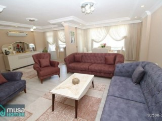 ALANYA HACET MAH 4 + 1 SEA AND CASTLE APARTMENT FOR SALE