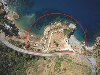 Alanya beachfront land for sale with 50 bungalow (wooden house) project