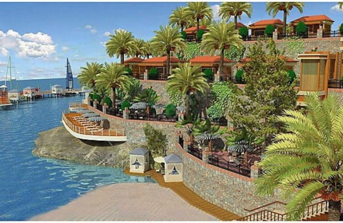 alanya-beachfront-land-for-sale-with-50-bungalow-wooden-house-project-big-0