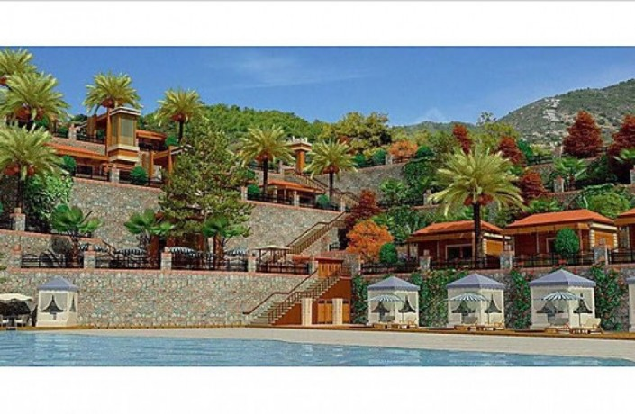 alanya-beachfront-land-for-sale-with-50-bungalow-wooden-house-project-big-4