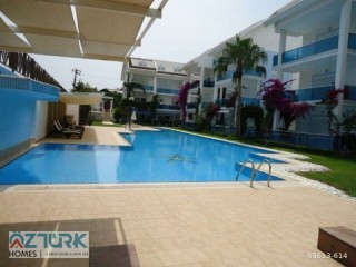 GARDEN DUPLEX APARTMENT FOR SALE MANAVGAT SIDE BEACH