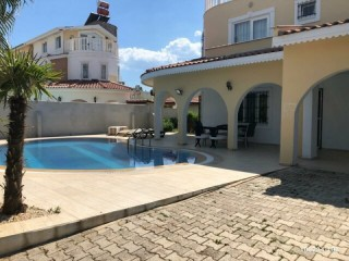 750 TL DAILY VILLA FURNISHED WITH POOL FOR RENT IN BELEK KADRIYE