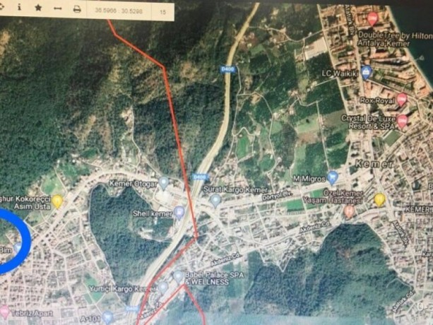 antalya-kemer-zoned-villa-land-for-sale-without-commission-big-0
