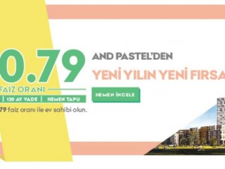 Andean Deluxe apartment opportunity from Pastel in Kartal Istanbul