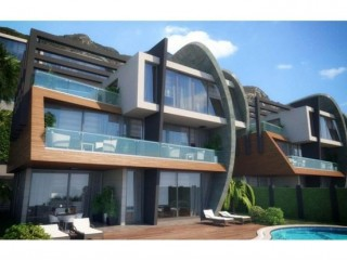 Tepe modern villas, 10 detached triplex villas with Alanya sea view