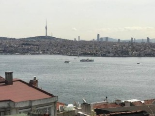 Istanbul monthly, sea view furnished flat in Cihangir with balcony