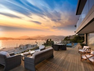 Shalvaraga houses rises in Kumbahçe with views of Bodrum Castle