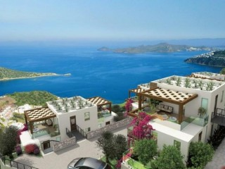 Bodrum Gümüşlük Vista Sunset apartments with amazing island and sea views