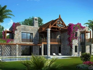 Mimdoza Turkish Traditional style natural stone Detached villas Bodrum