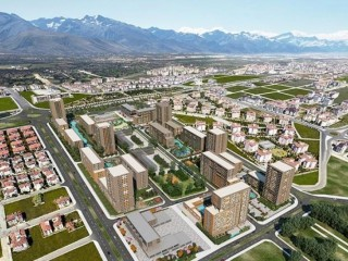 Denizli Merkezefendi, Evora of 1.500 flats, a private educational institution, a public school and commercial units