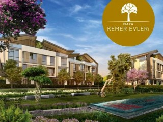 Delivery June 2021, Maya Kemer Houses is being built in Kemerburgaz, Istanbul