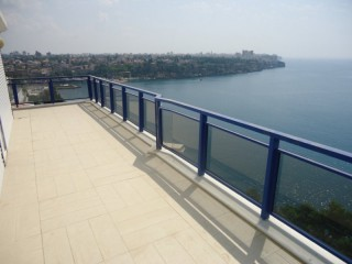 Sea view luxury Duplex apartment for rent Antalya in old town