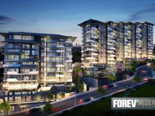July 2021 delivery, Istanbul Forev Modern Eyüp 2+1 deed for 1+1 price