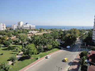 Sea view luxury duplex apartment for rent Lara Antalya